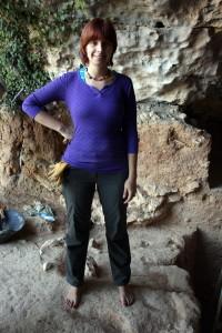 Sara Rhodes en Cueva Negra durante la campaña de 2011 (Foto: Miguel Martínez)