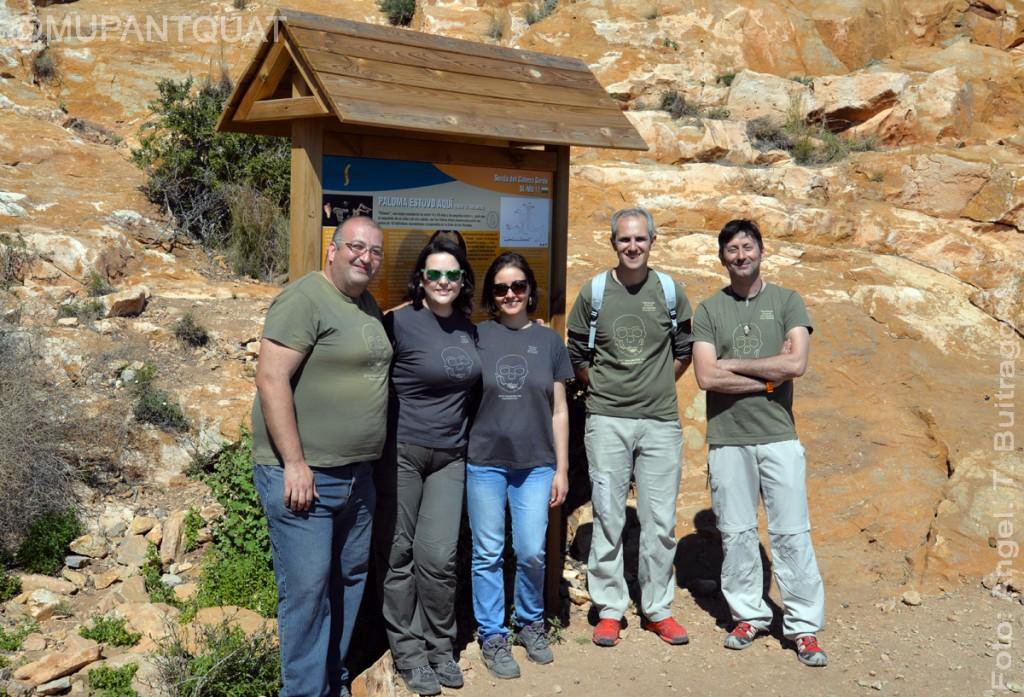 Angel T. Buitrago, Consuelo Caravaca, Azucena Aviles, Antonio L. Jiménez y Mariano López fueros los encargador de las visitas guiadas.