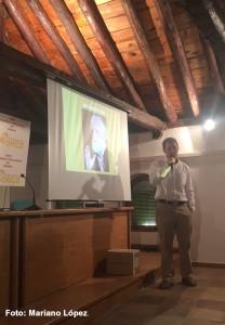 Luis Gibert en un momento de su intervención.